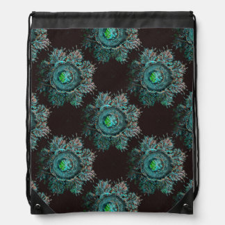 Jellyfish with Feather Tendrils Discomedusae Drawstring Bag