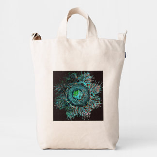 Jellyfish with Feather Tendrils Discomedusae Duck Bag
