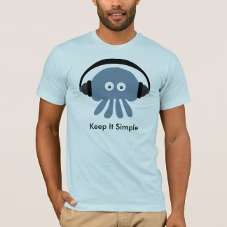 Jellyfish with headphones Keep It Simple T-shirt