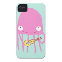 Jellyfish with ukelele Case-Mate iPhone 4 case