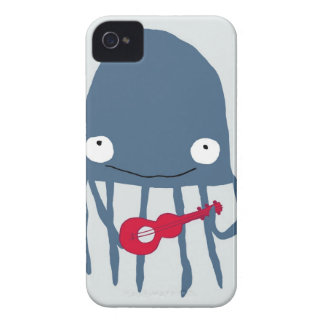 jellyfish with ukelele iPhone 4 Case-Mate cases