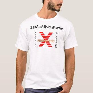 JeMaAlNa Music Contrast Stitch T-Shirt