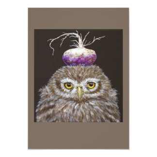 Jemma the baby owl flat card