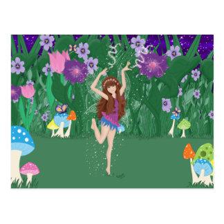 Jen la postal de la hada de la flor del baile