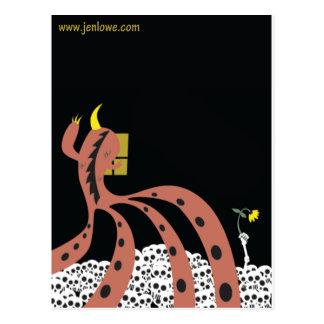 Jen Lowe Black Art Work Postcard