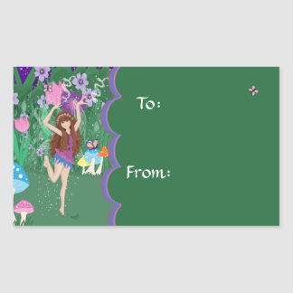 Jen the Dancing Flower Fairy Gift Tag Sticker