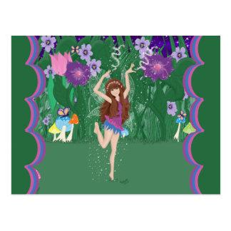 Jen the Dancing Flower Fairy Postcard