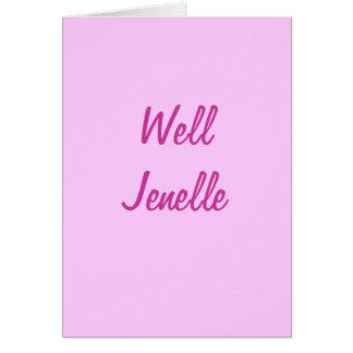 Jenelle bien tarjeta pequeña