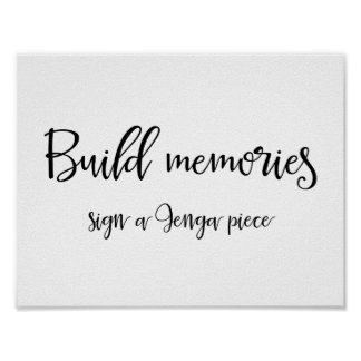 Jenga Piece Guestbook Sign | Calligraphy