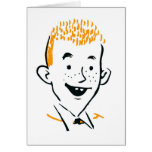 Jengibre Boy del Redhead irlandés del kitsch retro Tarjetas