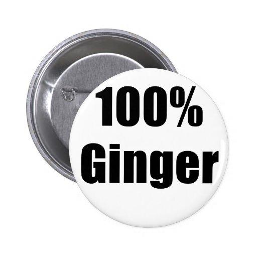 Jengibre del 100 por ciento pin