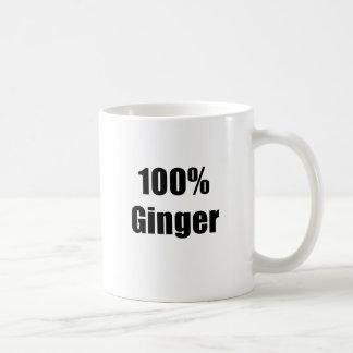 Jengibre del 100 por ciento taza de café