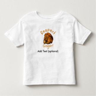 Jengibre del respecto - camiseta playera de niño