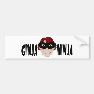 Jengibre Ninja Pegatina De Parachoque