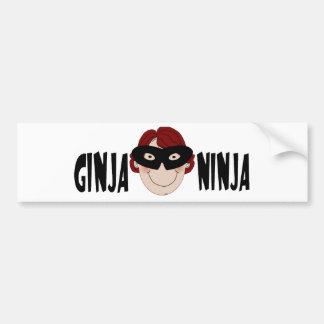 Jengibre Ninja Pegatina Para Auto