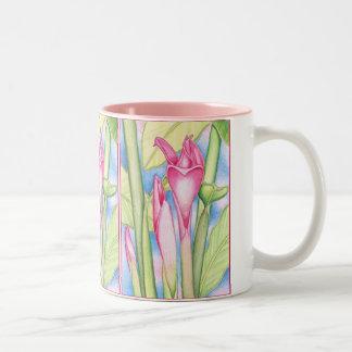 Jengibre rosado de la antorcha taza de dos tonos