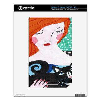 Jengibre y el gato NOOK color skins