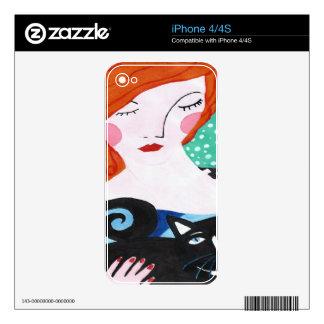 Jengibre y el gato calcomanías para iPhone 4S