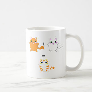 Jengibre y gatos blancos divertidos tazas de café