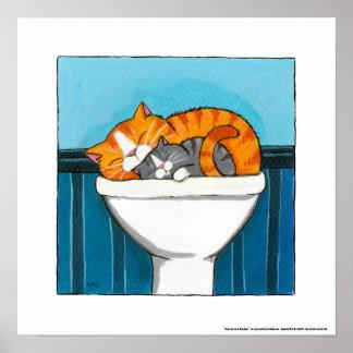 Jengibre y Smokey - impresión caprichosa del arte  Poster