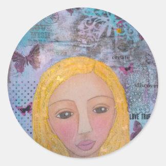 Jenica's Girl.jpg Classic Round Sticker