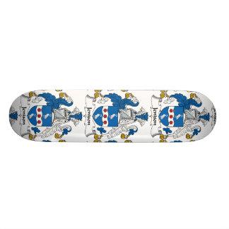 Jenison Family Crest Custom Skateboard