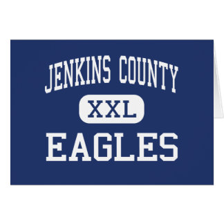 Jenkins County - Eagles - High - Millen Georgia Greeting Card
