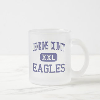 Jenkins County - Eagles - High - Millen Georgia 10 Oz Frosted Glass Coffee Mug