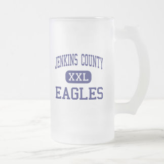 Jenkins County - Eagles - High - Millen Georgia 16 Oz Frosted Glass Beer Mug
