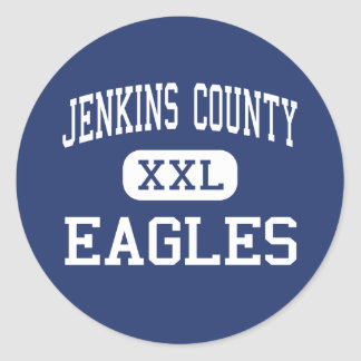 Jenkins County - Eagles - High - Millen Georgia Classic Round Sticker