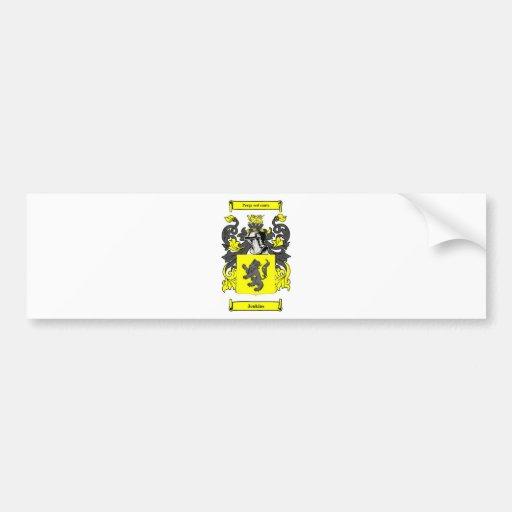 Jenkins (English) Coat of Arms Car Bumper Sticker