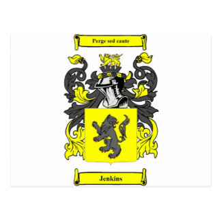 Jenkins (English) Coat of Arms Postcard