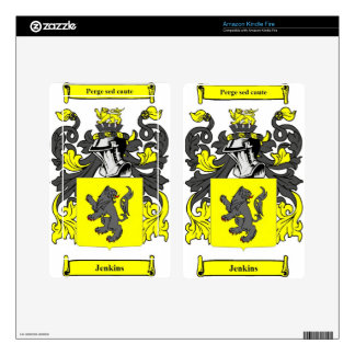 Jenkins (English) Coat of Arms Decal For Kindle Fire