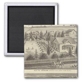 Jenkins, Snyder residences 2 Inch Square Magnet