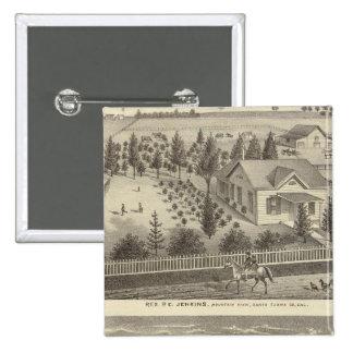 Jenkins, Snyder residences Pinback Button