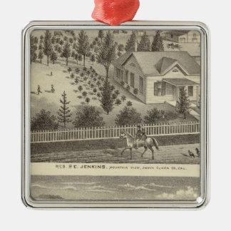 Jenkins, Snyder residences Metal Ornament