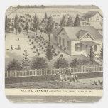Jenkins, Snyder residences Square Sticker