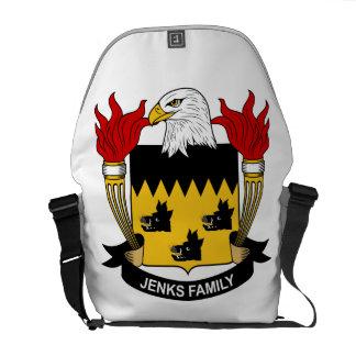 Jenks Family Crest Courier Bag