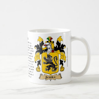 Jenks, the Origin, the Meaning and the Crest Classic White Coffee Mug