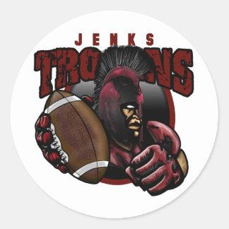 JenksTrojans12.png Classic Round Sticker