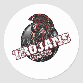 JenksTrojans7.png Classic Round Sticker