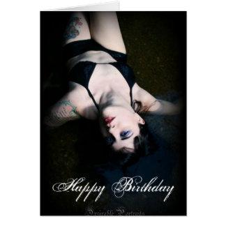 Jenn Martin (black bikini) Birthday Card