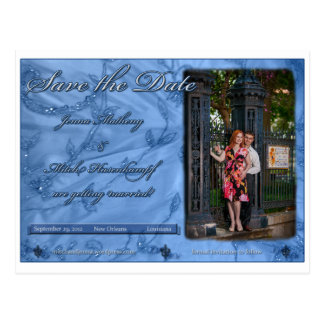 Jenna and Mitch Save the Date Postcard