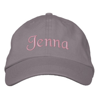 Jenna bordó gris del rosa del gorra de la gorra de gorra de béisbol