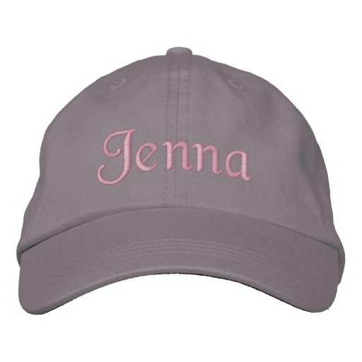 Jenna Embroidered Baseball Cap Hat Pink Gray
