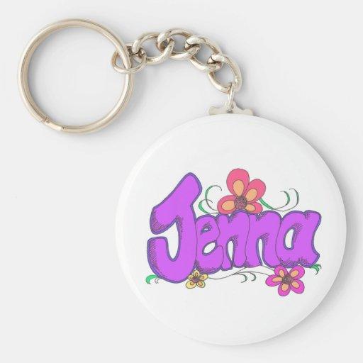 """""""jenna"""" personalizado para ella llaveros personalizados"""