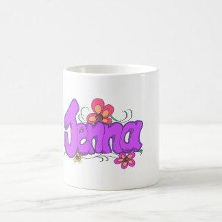 """""""jenna"""" personalizado para ella taza clásica"""