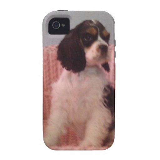 Jenna, Tri american cocker spaniel puppy Case-Mate iPhone 4 Cases