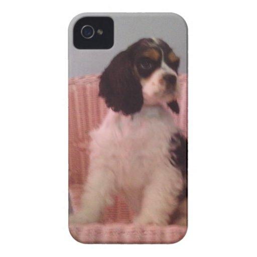Jenna, Tri american cocker spaniel puppy iPhone 4 Case-Mate Case