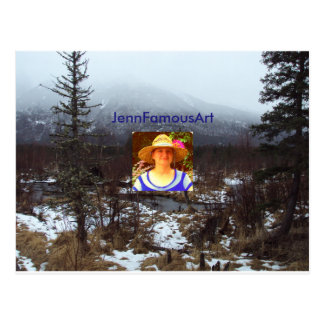 JennFamousArt Business Postcard Printable